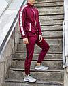 Спортивные штаны мужские бордовые с лампасами бренд ТУР модель Рокки(Rocky) размер XS, S, M, L, фото 4