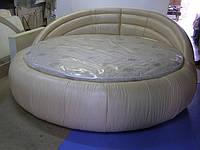 Круглая кровать Лаура. Круглая кровать из натуральной кожи