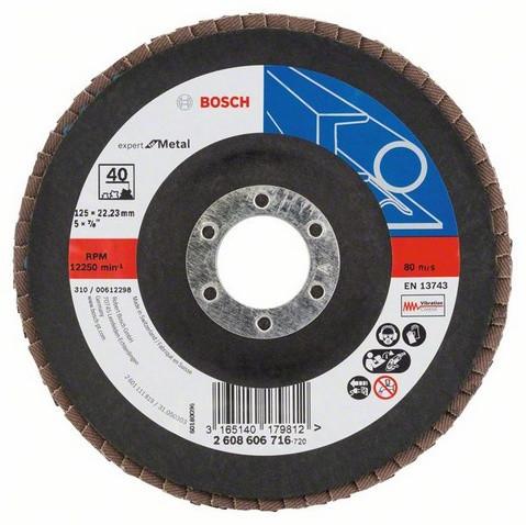 Складчастий шліфувальний круг Ø125мм К 40 BOSCH (1шт)