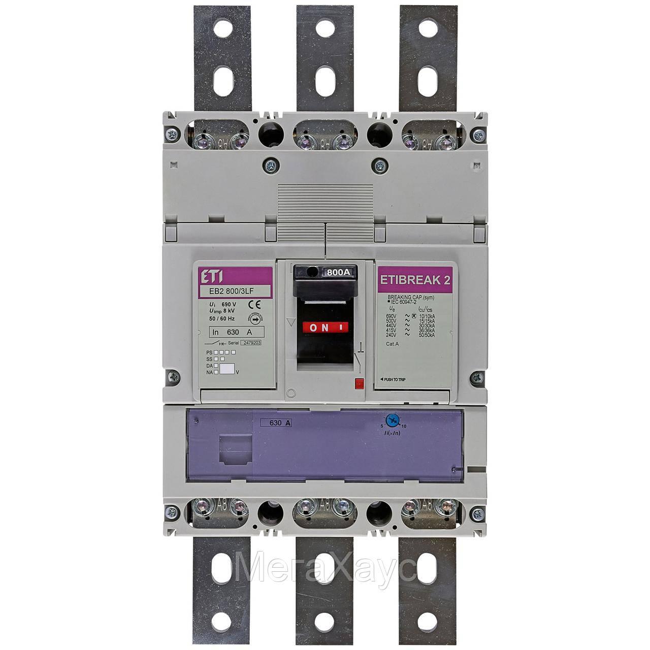 Промышленный автоматический выключатель ETI ETIBREAK  EB2 630/3LF 630А 3р (36кА)