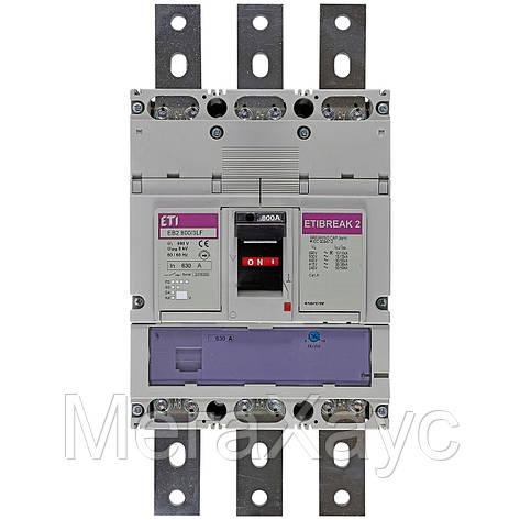 Промышленный автоматический выключатель ETI ETIBREAK  EB2 630/3LF 630А 3р (36кА), фото 2