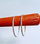 Серьги кольца из страз в один ряд 5,5 см, фото 3