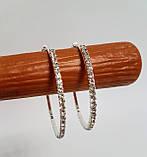 Серьги кольца из страз в один ряд 5,5 см, фото 7