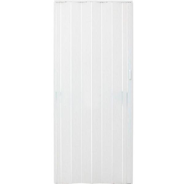 Двери-гармошка ПВХ Vinci Decor Melody 2030x820 мм арктический белый 6331