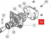 Кожух защитный шестерни ROBUS350 RD400 (PPD0604R01.4540)
