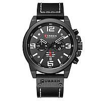Наручные часы CURREN 8314 мужские кварцевые водонепроницаемые часы с PU кожаным ремешком Черный (SUN1797)