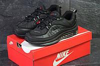 Мужские кроссовки Nike Air Max 98xSupreme осенние повседневные удобные спортивные в черном цвете, ТОП-реплика, фото 1