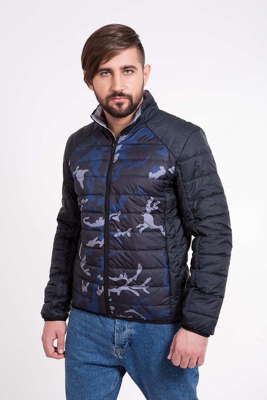 Куртка мужская демисезонная синяя + камуфляж Т-101К