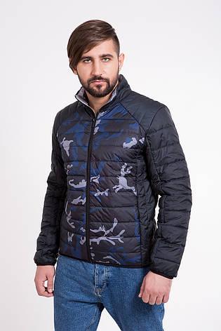 Куртка мужская демисезонная синяя + камуфляж Т-101К, фото 2