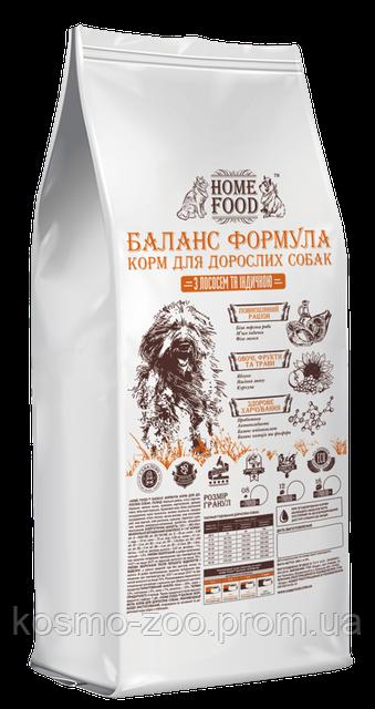 Сухой корм Home Food для взрослых собак мелких пород c индейкой и лососем, 10 кг