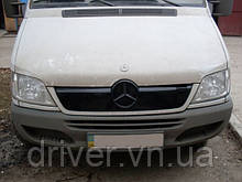 Зимня накладка (глянсова) Mercedes Sprinter CDI 2002-2006
