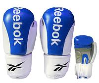 Перчатки боксерские Кожа REEBOK  (р-р 12oz, синий)