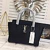 Модная сумка Ив Сен Лоран YSL эко-кожа дорогой Китай черная