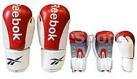 Перчатки боксерские Кожа REEBOK  (р-р 10oz, красный)