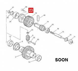 Фланец шестерни редуктора RB350/RB400/RD400/SOON (BMG0965.4567), фото 1