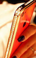 Золотой Бампер Iphone 6 PLUS 5.5дюймов Сваровски, фото 1