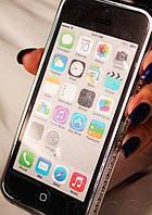 Серебряный Бампер Iphone 6 PLUS 5.5дюймов Сваровски, фото 1