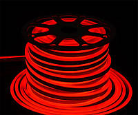 Светодиодный неон Prolum SMD2835, красный 120шт/м, 10W/m, IP68, 12V