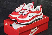 Мужские кроссовки Nike Air Max 98 яркие молодежные стильные кросы в стиле найк под джинсы красно-белые
