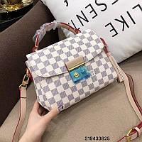 Женская сумка-клатч Louis Vuitton Луи Виттон эко-кожа дорогой Китай белая