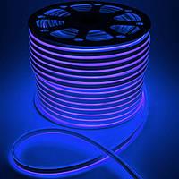 Светодиодный неон Prolum SMD2835, синий 120шт/м, 10W/m, IP68, 12V