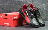 Мужские кроссовки Puma Bmw Motorsport осенние весенние спортивные повседневные кожаные (черные), ТОП-реплика, фото 1