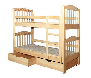 Деревянные двухэтажные кровати