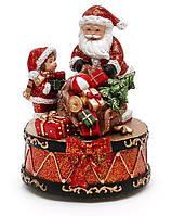 Новогодняя композиция Санта с музыкой, 13см BonaDi 197-N27 РАСПРОДАЖА !!!