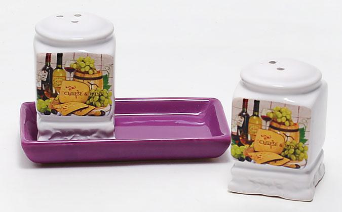Набор для специй на керамической подставке Cheese&Wine BonaDi DU762-W РАСПРОДАЖА !!!