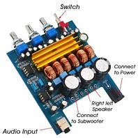 Усилитель D-класс 2*50 1*100Вт TDA3116D2  сабвуфер підсилювач плата аудио