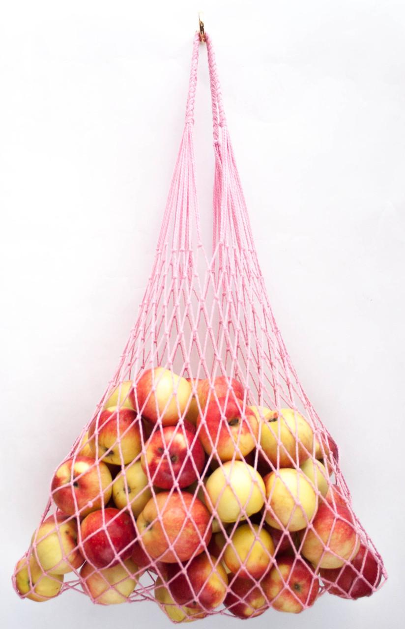 Женская сумка, Авоська - розовая