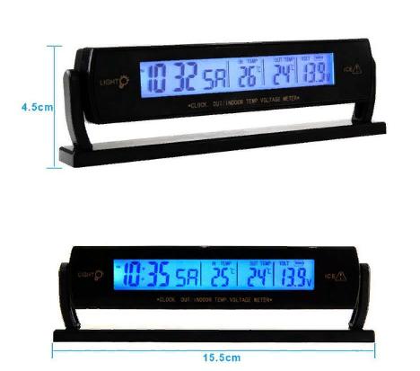 Автомобильные часы,термометр, вольтметр 7013V