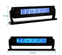 Автомобильные часы,термометр, вольтметр 7013V, фото 1