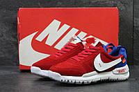 Мужские кроссовки Nike off White MARS  молодежные яркие  весенние осенние замша+пена (красные), ТОП-реплика, фото 1