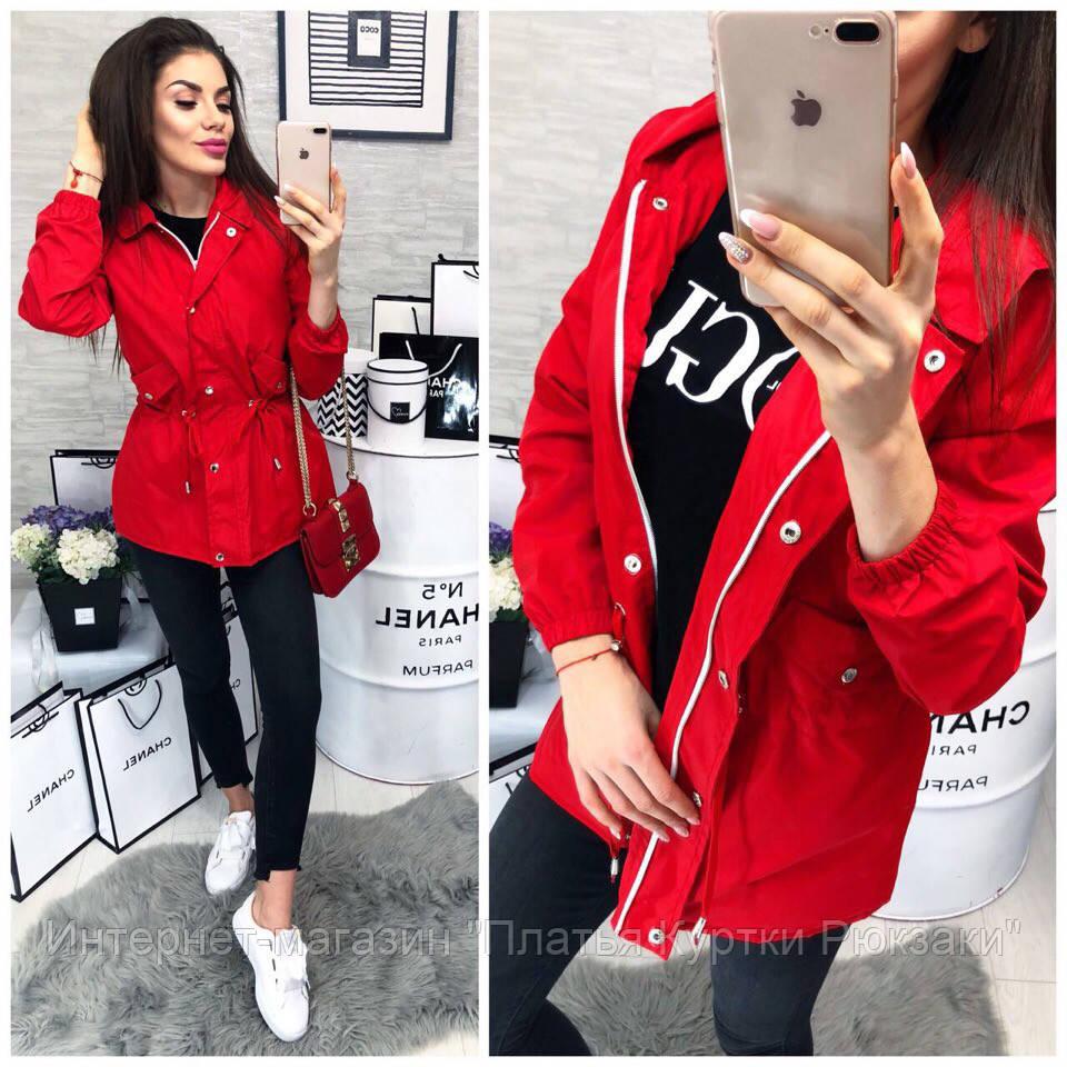 b9d2ecb184e0 Женская осенняя удлиненная куртка - тренч, на синтепоне, красный, пудра,  хаки, стальной, 42, 44, 46