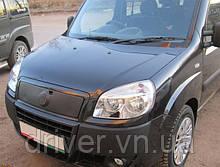Зимня накладка матова  Fiat Doblo 2006-2012 (верх)