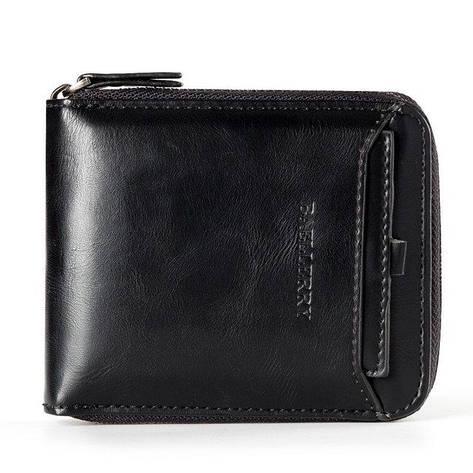 Мужской кошелек BAELLERRY Casual Mini кожаный портмоне на молнии Short Черный (SUN0569), фото 2