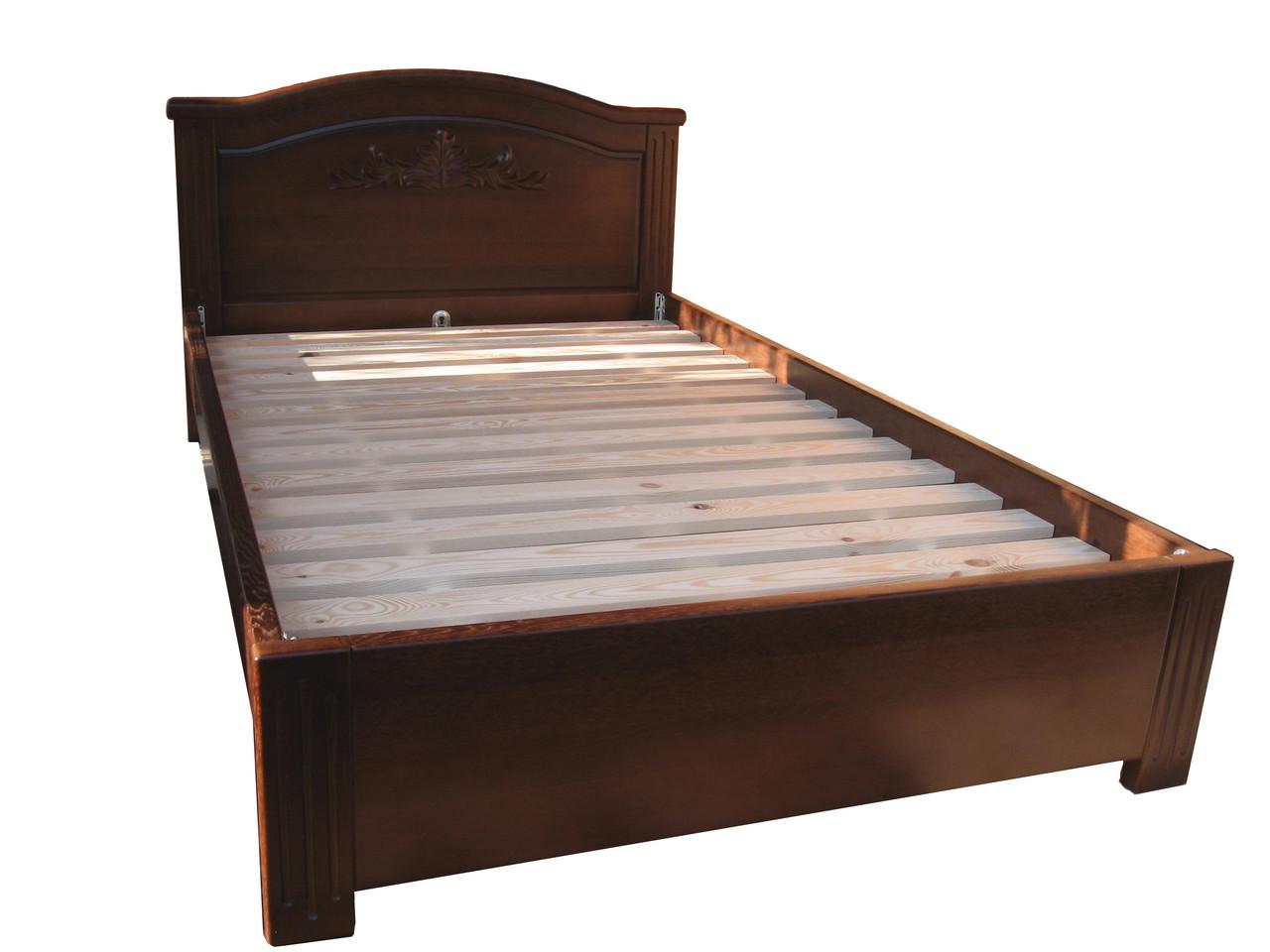 """Двухспальная кровать из массива дерева """"Емануель"""""""