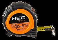 Рулетка NEO, сталева стрiчка  2 м x 16 мм, магнiт (67-112)