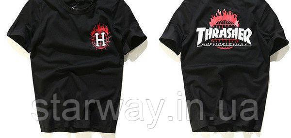 Футболка стильная Thrasher HUF logo   Топ