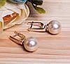 Серебряные серьги с жемчугом #