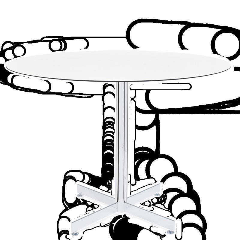 База стола Gama 60x60x73 см хромированная Papatya