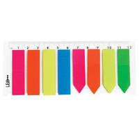 Індекси пласт. 44х12мм (20арк. х 8 коль.) з лінійкою L1218