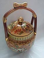 Ваза корзинка  керамическая  коричневая  37 см Китай