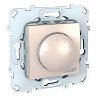 Механизм светорегулятора (диммер) поворотно-нажимной для флуоресцентных ламп (1-10В) 400 Вт 2 модуля, слон.