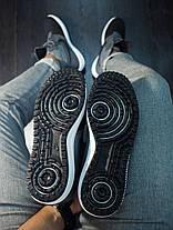 Кроссовки мужские Nike Duckвoot' AF 1 высокие серо - черные топ реплика, фото 3