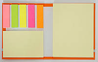 Набір липких стікеров желт.бумага100х75м 100л+бумага50х75мм 25л+бум.инд.12х45мм 25л L1224