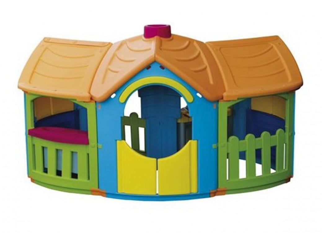 Детский игровой домик Marian Plast 666 Grand Villa, размер 199*162,6*126 см
