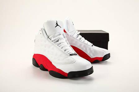 92b87577 Мужские кроссовки в стиле Nike Air Jordan 13 White\Red\Black ...