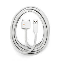 Кабель Griffin USB/Dock Cable 3 метра, для iPhone 4/4S, iPad 2/3